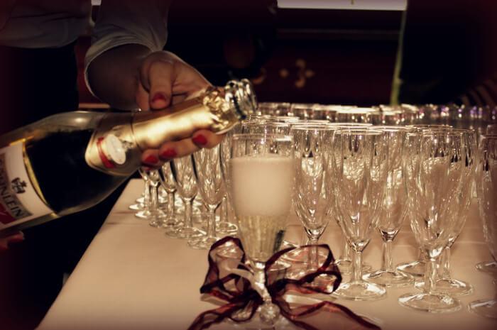 szampan wesele kieliszek